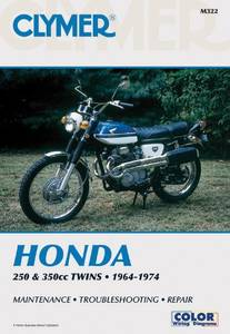 Bilde av Clymer Manuals Honda 250 & 350